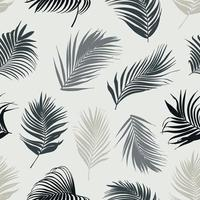Palm leaf vector seamless pattern