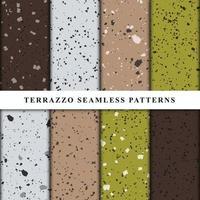 conjunto de patrones sin fisuras de estilo terrazo. vector premium