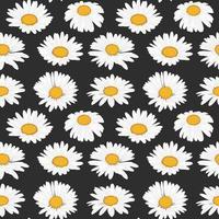 colección flor de margarita de patrones sin fisuras para imprimir vector