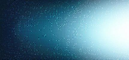 Fondo de tecnología de circuito de luz convexa, diseño de concepto de red y digital de alta tecnología, ilustración vectorial. vector