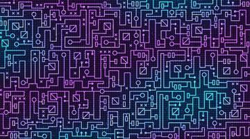 Fondo de tecnología de placa de circuito moderno, seguridad y concepto electrónico, vector. vector