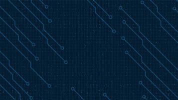 Desenfoque de la línea del circuito en el fondo de la tecnología, diseño de concepto digital y de seguridad de alta tecnología, espacio libre para texto, ilustración vectorial. vector