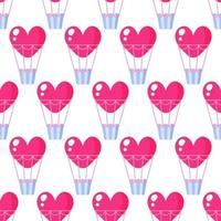 Seamless pattern of heart balloon for the wedding or Valentine's Day. vector