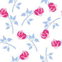 patrón sin fisuras de rosas rosadas para la boda o el día de san valentín. vector