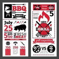 Barbecue bbq template design Vector