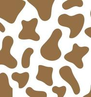 Cow texture pattern. Spot background. Animal skin template. Vector EPS 10