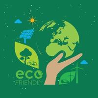 Ecology and environment conservation creative idea concept design