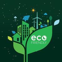ecología y conservación del medio ambiente idea creativa diseño de concepto vector