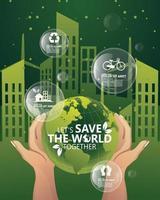 Ecology and environment conservation creative idea concept design vector