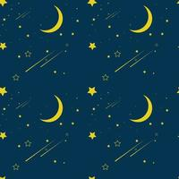 Night Atmosphere Seamless Pattern Vector Illustration