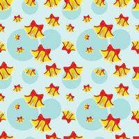 Christmas Bell Seamless Pattern Vector Illustration