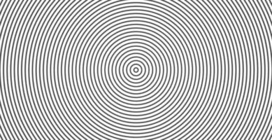 Concentric circle. Illustration for sound wave. Abstract circle line pattern. Black and white graphics vector