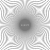 Concentric circle. Illustration for sound wave. Abstract circle line pattern. Black and white graphic vector