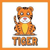 cute kawaii tiger animal drawings illustrations art vector