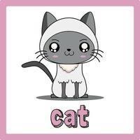 cute kawaii cat animal drawings illustrations art vector