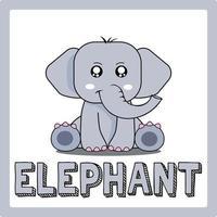 cute kawaii Elephant animal drawings illustrations art vector