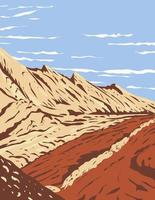The Jurassic Navajo Sandstone in San Rafael Reef located in Glen Canyon National Recreation Area Utah WPA Poster Art vector
