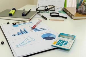 gráfico de tabla de negocios foto