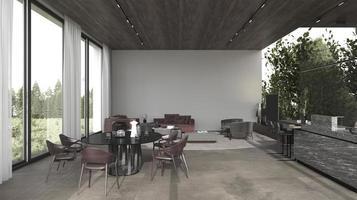 espacio abierto de arquitectura moderna foto