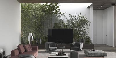 casa de diseño de interiores minimalista de lujo foto