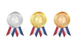 A Gold, Silver and Bronze badge vector