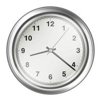 steel vintage wall clock on a white background vector