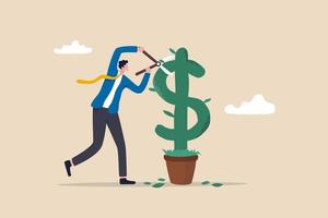 Making profit from investment concept vector