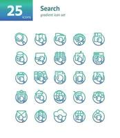 Search gradient icon set. Vector and Illustration.