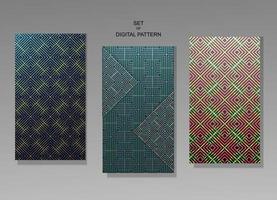 illustration graphic vector of set digital pattern