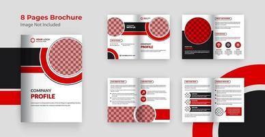 Business bi-fold brochure template design vector