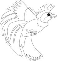 Bird of Paradise Kids Coloring Page - Great for Beginner Coloring Book vector