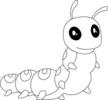 Caterpillar Kids Coloring Page vector