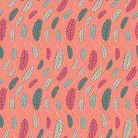 plumas de aves de patrones sin fisuras. patrón de Pascua con plumas de pollo. vector ilustración plana. diseño para textiles, empaques, envoltorios, tarjetas de felicitación, papel, imprenta.