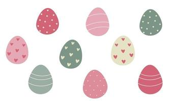 Decorated Easter eggs.Vector flat illustration vector