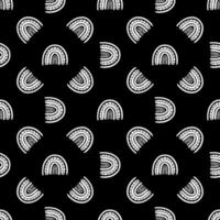 Rainbow black and white pattern vector