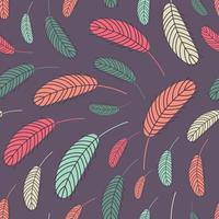 Boho feathers seamless pattern vector