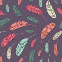 patrón sin costuras de plumas boho vector