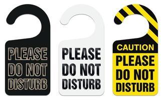 letrero colgante de perilla de puerta con por favor no molestar vector