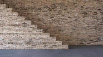 Imagen de renderizado 3D de sala de estar de diseño de interiores foto