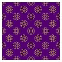 Arabic Gold Seamless Pattern wtih Purple Background vector