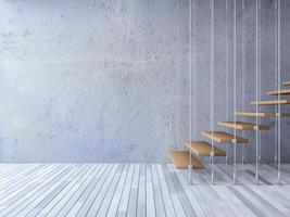 Escalera 3d colgada por cables foto