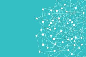 Connecting dots and lines vector