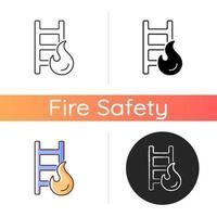 Fire escape ladder icon vector