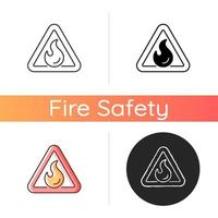 Flammable vector icon