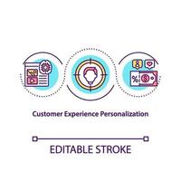 Customer experience personalization concept icon vector