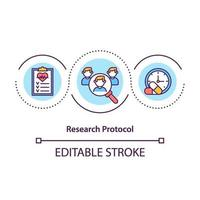 Research protocol concept icon vector