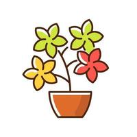 Flowering tree shrubs RGB color icon vector