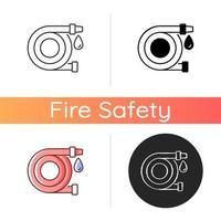 Fire hose icon vector