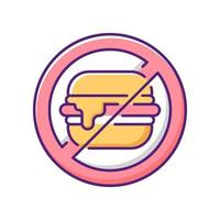 No junk food RGB color icon vector