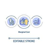 Marginal cost concept icon vector